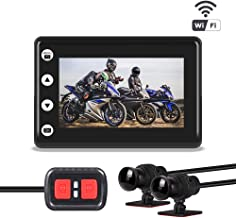 "$159 » Vsysto A2F Motorcycle Camera/Sport Action 3"" LED Waterproof Dash Cam Dual 1080P DVR IMX323 Front and Rear Camera& Night Vision 155 Angle View Lens Driving Recorder for Motorcycle/Bike/Boat"