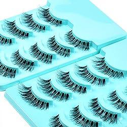 commercial Kenji Beauty 10 Pair Demi Whispy False Eyelashes Handmade Natural Rush Pack # 120 wispie lashes bulk