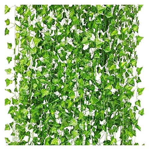 HUANHUAN Huan store 36pcs piante artificiali di vite fiori falsi edera appeso ghirlanda per la festa di nozze casa bar giardino parete decorazione promozione (colore: verde)
