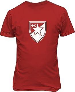 TJSPORTS FC crvena Serbia red Star Belgrade Soccer Football t Shirt
