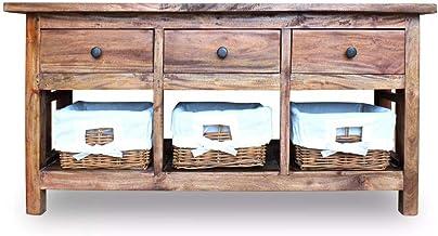 Sideboard Retro Side Cabinet Festnight Wooden Cupboard TV Stand Living Room Furniture 100x30x50 cm