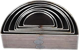 7pcs cuir moule de poinçonnage 20-50mm un trou creux demi-cercle forme outil de bricolage pour sac de ceinture ceinture po...