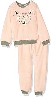 Giggles Embroidered Raglan Sleeves Round Neck Sweatshirt with Pants Pajama Set for Girls