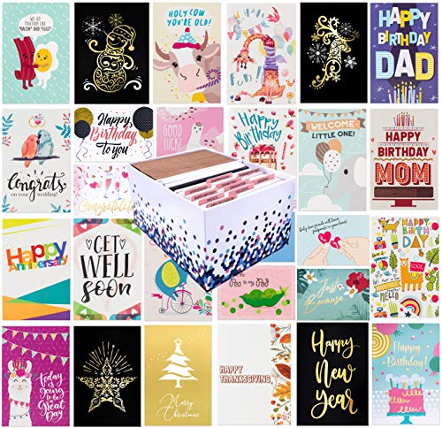 100 All Occasion Greeting Cards 4 x 6 with 100 Envelopes | Amazon.com