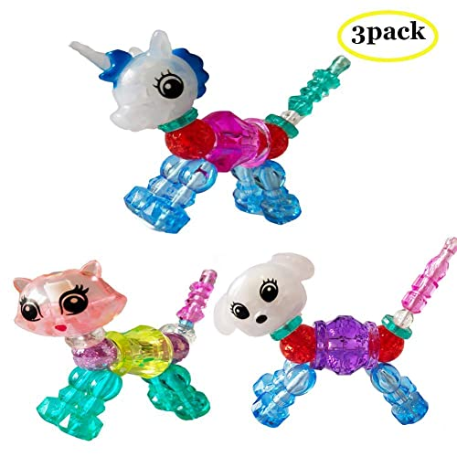 Make a Bracelet or Twist Into a Pets bubblestar 6 Packs Colorful Magical Pets Bracelets