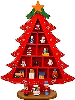JERFER Juguete De Regalo De Bricolaje Adorno Navideño Casero De Madera Árbol De Navidad Handmades Decoración De Mesa