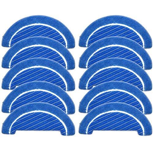SODIAL 10 PièCes SéRies Inserts de Vadrouille en Tissu pour Conga 1090 Robot Aspirateur SéRie Accessoires de Nettoyage Kit D'Insertion de Vadrouille en Tissu