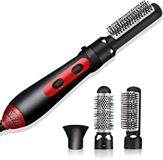 3 In 1 Hair Styling Tool Set, Multifunction Professional Salon Hot Air Comb, Ceramic Barrel Hair Straightener And Curler Brush