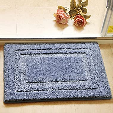 Eanpet Soft Bath Rug Bathroom Microfiber Spa Bathroom Accent Mat 20x32 inches Non-Skid Pure Cotton Area Rug Extra Plush Absorbent Bathmat Bath Tub Shower - Blue