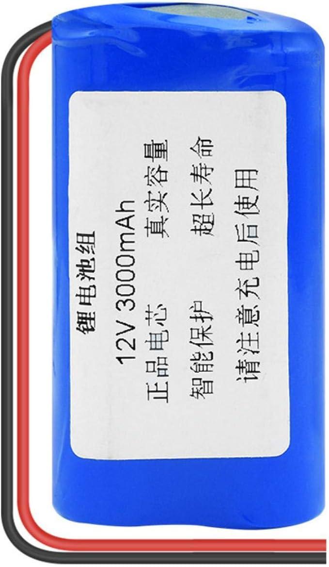 THENAGD Batería De Litio Triangular 18650 12v 3000mah, Paquete para Modelo Batería Recargable De Iones De Litio Cables De Alambre Universales