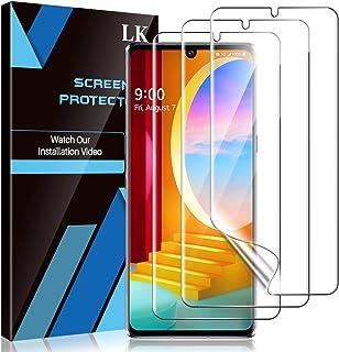 LK [3 Pack] Screen Protector for LG Velvet/LG Velvet 5G UW, (New Version) Positioning Tool, in-Display Fingerprint Suppor...