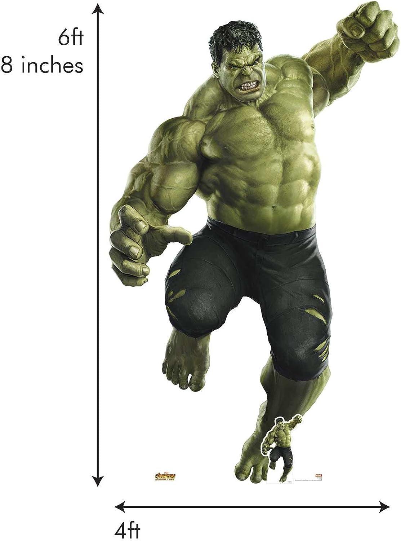 Star Cutouts 122 Official Marvel Character Lifesize Cardboard Cutout Hulk Smash Giant (Avengers  Infinity War), Multicolour