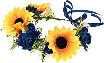 DDazzling Flower Girl Crown Bridal Flower Crown Pregnant Woman Photo Prop