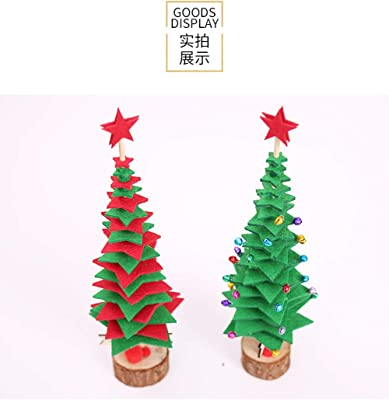 BANLAN Christmas DIY Tree Small Desk Decor for Decoration Home Festival Wedding Party Indoor Outdoor Puzzle Use Birthday Gift