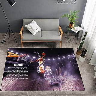 Tritow Tapis de Salon Kobe Dunk Série NBA Tapis de Chambre à Coucher Paillasson antidérapant USA NBA Jordan Tapis de Sol d...