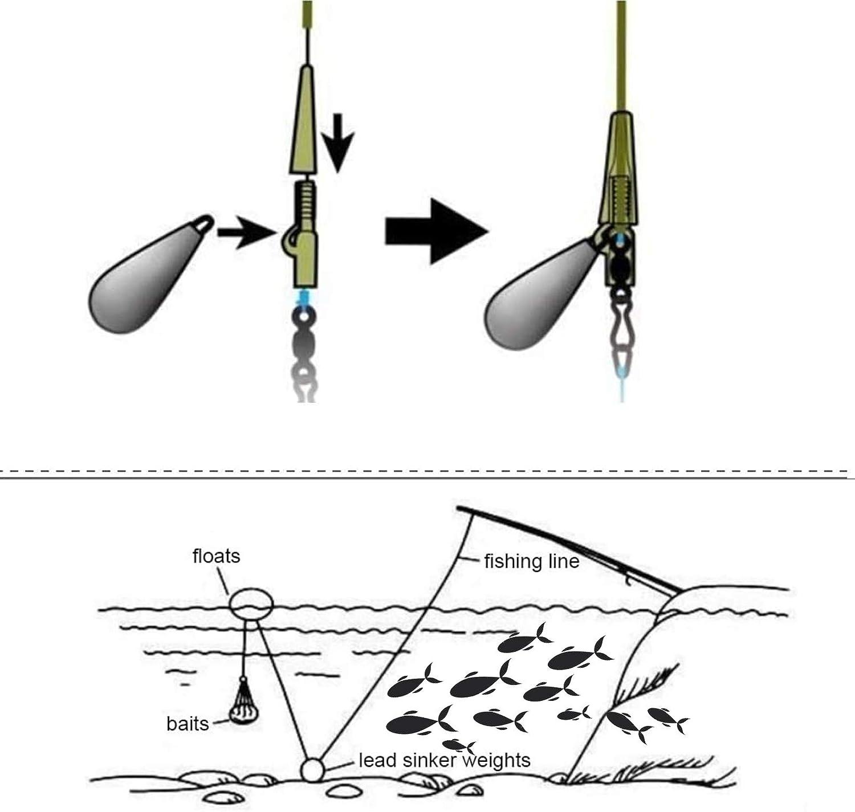 PEI 15PCS Raindrop Fishing Sinkers Weights 1.76 1.41 OZ Lead Fishing Weight Bullet Streamlined Shape Fishing Tackle Sinkers Bullet Weights Lead Sinkers for Bottom Fishing