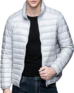 KumiJP メンズ ダウンジャケット メンズ ライト ダウン コート ダウン90% 登山 軽量 防寒 防風 暖かい 秋冬春YR1201(フード 付き)1202