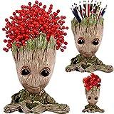 Arbusb Succulent Planter Pen Cup TreeMan for Birthday Gift,Pen Holder Pot Cute Green Plants Flower Pot,Best Festive Gift for Kids Girls,Boys,Women (Express Love)