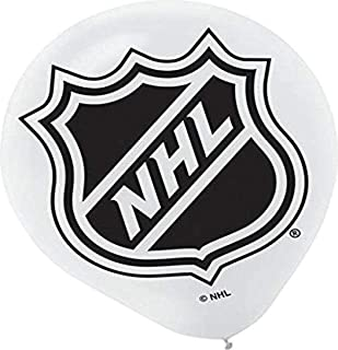 """amscan """"NHL Collection 12"""" Printed Latex Balloons, Party Decoration, 18 Count"""