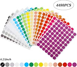 Cocoboo 4480pcs 0.75 inch Round Color Coding Circle Dot Labels, 16 Colors, 70 Labels per Sheet