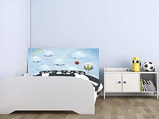 Cabecero Cama Infantil PVC Nubes y Globos 100 x 60 cm | Disponible en Varias Medidas | Cabecero Ligero, Elegante, Resistente y Económico