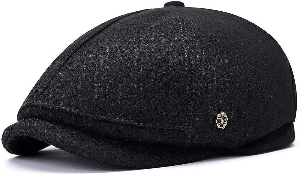Mens Berets Hat Retro 6 Panel Wool Blend Cap Newsboy Many popular brands Boy H Miami Mall Baker