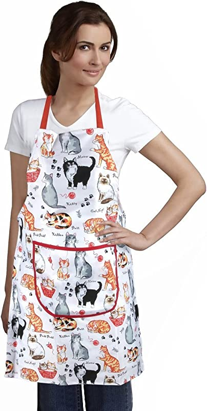 Home X Cat Print Apron
