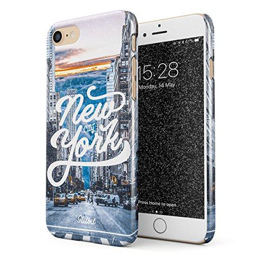 Glitbit Cover per iPhone 7/8 / SE 2020 Case New York City NY Big Apple USA Times Square America Travel Wanderlust Brooklyn Manhattan Sottile Guscio Resistente in Plastica Dura Custodia Protettiva