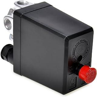 JQWORKLAND Air Compressor Pressure Switch Control Valve 90-120 PSI 240V