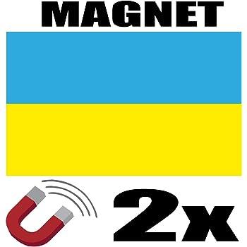 SAFIRMES 2 x Pays Bas Drapeau Magnet 6x3 cm Aimant d/éco Pays Bas magn/étique frigo