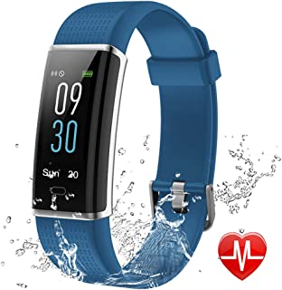 Lintelek Fitness Tracker with Heart Rate Monitor, Color Screen Activity Tracker HR, Sleep Monitor, 14 Sports Modes, IP68 Waterproof Pedometer, Step Counter for Kids, Women, Men