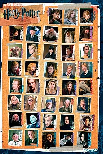 GB eye Poster, 61 x 91,5 cm, Größe: Maxi, Harry Potter Poster 7 Zeichen