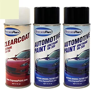 ExpressPaint Aerosol - Automotive Touch-up Paint for Ford F-Series, F150, F250, F350 - White Chocolate Tricoat PV - Color + Clearcoat Package