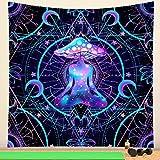 PPOU Tapiz de Mandala Indio brujería Seta Colgante de Pared Estilo Bohemio Decorativo Chakra meditación Tapiz Manta A1 180x200cm