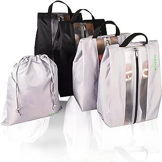 GYSSIEN 旅行鞋袋防水收纳袋拉链开合 4 个装免费拉绳袋