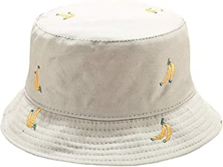 DOCILA Womens Summer Cotton Bucket Hats Fashion Painted Foldable Fisherman Sun Cap