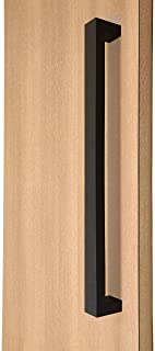 STRONGAR Modern & Contemporary Square/Rectangle Shape/914mm/36 inches/Push-Pull Stainless Steel Door Handle - Black Finish