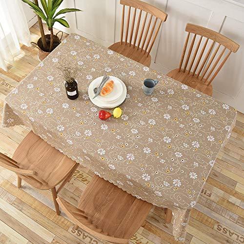 Yinaa Mantel Impermeable para Banquetes Boda Recepciones Anti Escaldado y Duradero Formal o Informal Celebrations y Eventos Marrón Claro 135 × 220cm