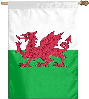Welsh Dragon Flag Flag 27 X 37 Inch Vertical House Flag Decoration for Outdoor,Yard,Garden