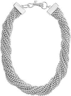 Steve Madden Women Alloy Multi Chain Necklace, 16 Inch - SMN508917RH, Silver