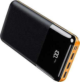 モバイルバッテリー 大容量 25000mAh 急速充電 LCD残量表示 PSE認証済 Type-CとMicro入力ポート(2.4A+2.4A) 3USB出力ポート(2.4A+2.4A+2.4A) スマホ充電器 iPhone/iPad/Andro...