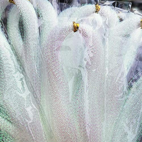 10 Packs White Crystal Flash Fly Tying Material for Make Fishing Lure Dry Wet Streamers Flies