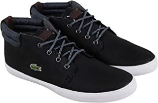 Lacoste Ampthill Terra 318 1 Cam Mens Black Leather Sneakers Shoes 9