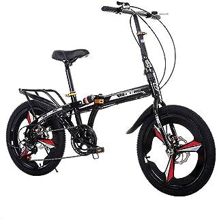 Grimk 20 Pulgadas Plegable De Aluminio Bicicleta De Paseo Mujer Bici Plegable Adulto Ligera Unisex Folding Bike Manillar Y Sillin Confort Ajustables,7 Velocidad,Capacidad 140kg