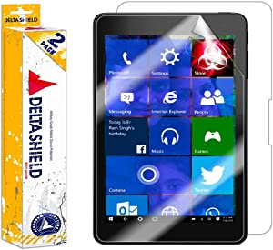 DeltaShield Full Body Skin for Dell Venue 8 Pro 5855 (2-Pack)(Screen Protector included) Front and Back Protector BodyArmor Non-Bubble Military-Grade Clear HD Film
