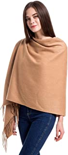 Cashmere Wrap Shawl Stole for Women, Winter Extra Large(79in x 28in) Wool Scarf