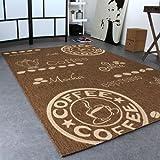 Teppich Modern Flachgewebe Sisal Optik Küchenteppich Coffee Braun Beige Töne, Grösse:80×200 cm - 2