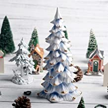 Nordic Blue White Ceramic Christmas Tree Decoration for Home Living Room Craft Ornament Decor Accessories Mother S Gift Zt...