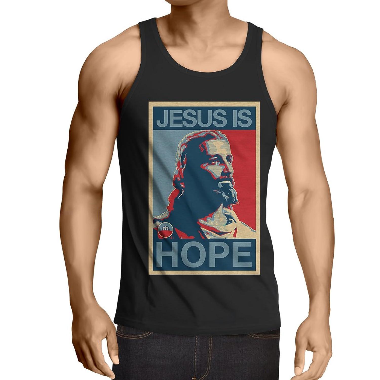 lepni.me 男性用ベスト イエスは希望です! 宗教 - 復活のシャツ - キリスト教の贈り物のアイデア、宗教的な服