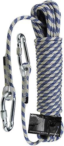 HPDOD Corde d'escalade, Corde d'escalade Corde de sécurité en Plein air Portant Une Corde 1400kg, diamètre 8mm,20m